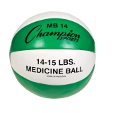 14-15lb Leather Medicine Ball