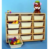 12 Cubbies Mobile Storage - SW-739-12