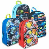 1 Case (24 units) 15 Inch Boys Print Backpacks