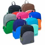 1 Case (24 units) 15 Inch Colorbock Backpack - 8 Colors