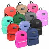 1 Case (24 units) Trailmaker Classic 17 Inch Backpack - 12 Colors
