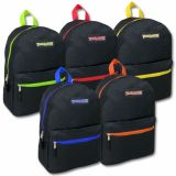 1 Case (24 units) Trailmaker Classic 17 Inch Backpack - 5 Pop Colors