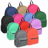 1 Case (24 units) 15 Inch Basic Backpack - 12 Colors