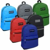 1 Case (24 units) High Trails 19 Inch Backpack - 6 Colors