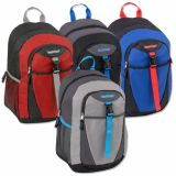 1 Case (24 units) 18 Inch Clip Pocket Backpacks With Fully Padded Backs - Boys