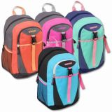 1 Case (24 units) 18 Inch Clip Pocket Backpacks With Fully Padded Backs - Girls
