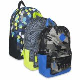 1 Case (24 units) 18 Inch Graphic Backpack With Padding & Large Zippers - Boys