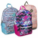 1 Case (24 units) 18 Inch Graphic Backpack With Padding & Large Zippers - Girls