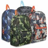1 Case (24 units) 17 Inch Printed Backpacks - Boys