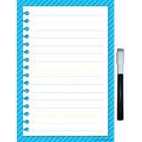 Aqua Stripes Clingy Thingies® Small Note Sheet with Pen