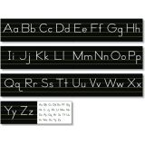 Alphabet Lines - Black Traditional Manuscript