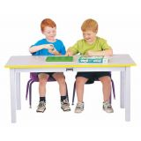 Rainbow Accents Multi-Purpose Large Rectangle Table - 22 High - Blue