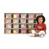 Young Time 20 Cubbie-Tray Storage - with Clear Trays