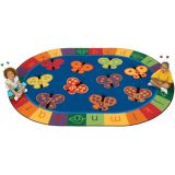 123 ABC Butterfly Fun Rug