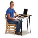 Berries Tall Trapezoid Desk - Gray Top
