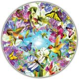 Round Table Puzzle - Hummingbirds