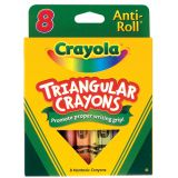 Crayola® Triangular Anti-Roll Crayons, 8 Colours