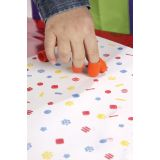 Finger Painters/Stampers With Pad, Set of 8