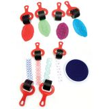 Paint & Clay Explorers, Set 2, Red Handles