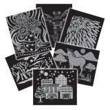 Scratch-Art® Pattern Paper, 60 Sheets