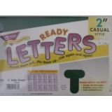 2 Kelly Green Casual Letters