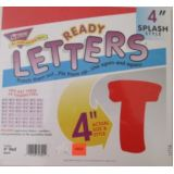 4 Red Splash Letters