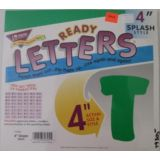 4 Splash Green Letters