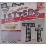 Combo Pack 4 Playful Black Gingham Letters