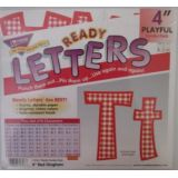 Combo Pack 4 Playful Red Gingham Letters