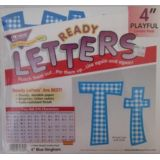 Combo Pack 4 Playful Blue Gingham Letters