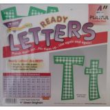 Combo Pack 4 Playful Green Ginham Letters