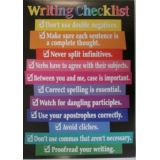 Writing Checklist…Poster