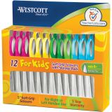 Westcott® Soft Handle 5 Kids Scissors Classpack, Pointed