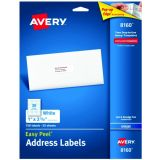 Avery® Easy Peel® White Address Labels, 1 x 2 5/8, 750 count