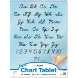 Colored Paper Chart Tablet, 24 x 32, 1 ruled