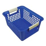 Tattle® Book Basket with Label Holder, Blue