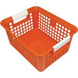 Tattle® Book Basket with Label Holder, Orange