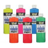Handy Art® Washable Tempera Paint, Fluorescent Red