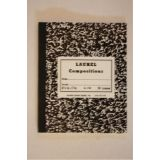 Notebook,Sewed Black Marble Semi-Stiff Covers, Composition Book, 48 Pages