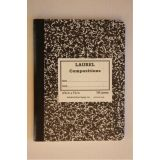 Notebook, Sewed Black Marble Hard Cover Composition Book,200 Pages