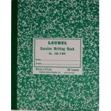 Cursive Composition Notebook GR-2 Ruled,Green Marble Semi-Stiff Covers,100 Pages