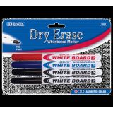 Assorted Color Fine Tip Dry-Erase Markers ~ 4 Pack
