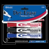 Assorted Color Chisel Tip Dry-Erase Markers (3/Pack)