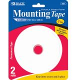 0.5x200 Double Sided Foam Mounting Tape (2/Pack)