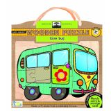 Green Start Wooden Puzzle: Love Bus