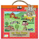 Green Start Giant Floor Puzzle: On the Farm