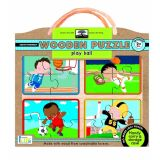 Green Start Wooden Puzzle: Play Ball