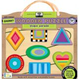 Green Start Chunky Wooden Puzzle: Shape Parade