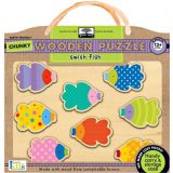 Green Start Chunky Wooden Puzzle: Swish Fish