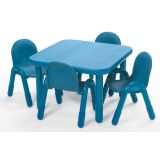 BaseLine® Table, Square. 16 table height, Teal Green